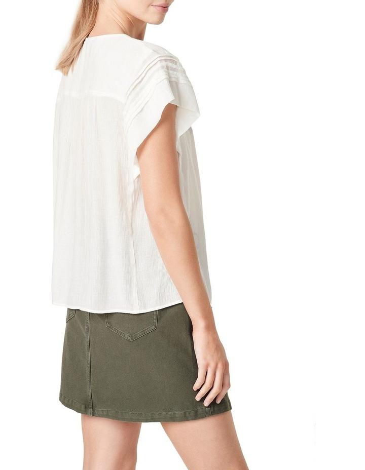 Textured Flutter Sleeve Shirt image 3