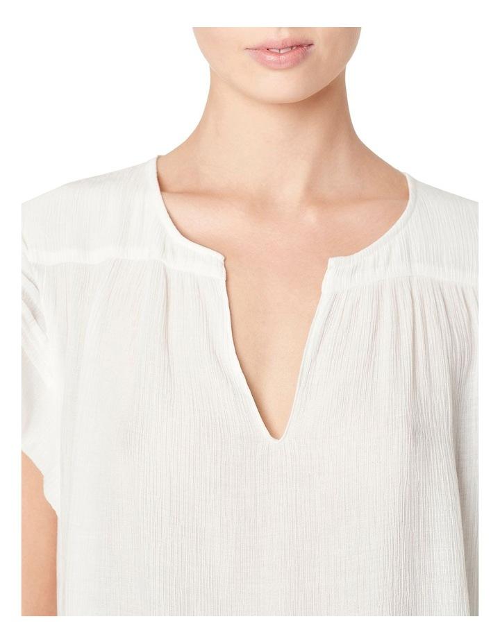 Textured Flutter Sleeve Shirt image 4