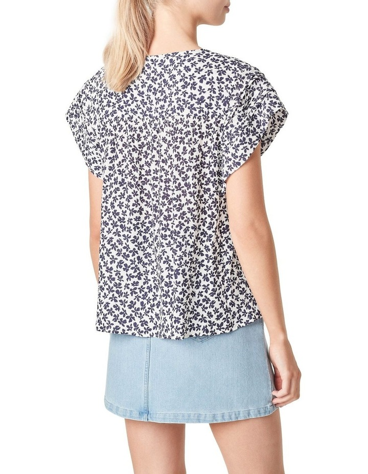 Textured Flutter Sleeve Shirt image 3