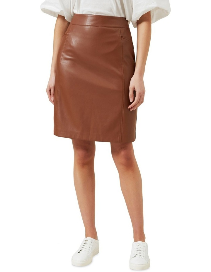 Faux Leather Skirt image 1