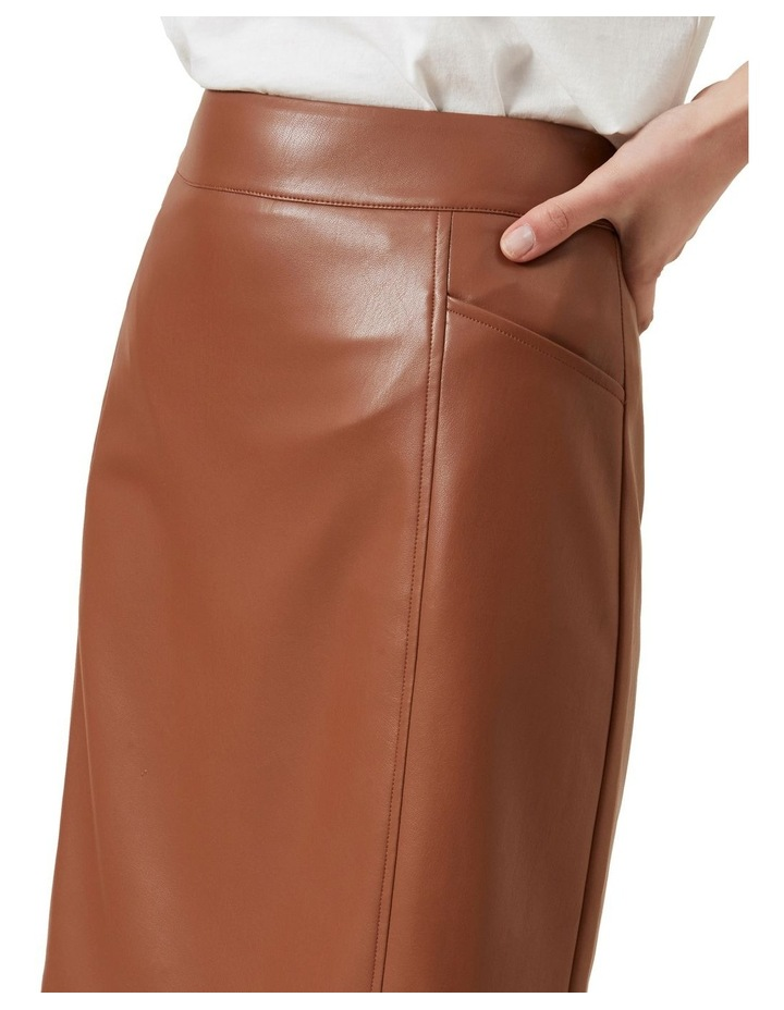 Faux Leather Skirt image 4