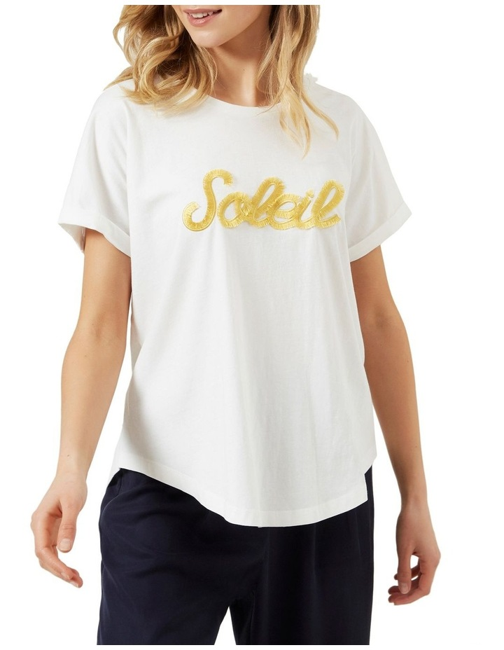 Soleil Embroidered T Shirt image 1