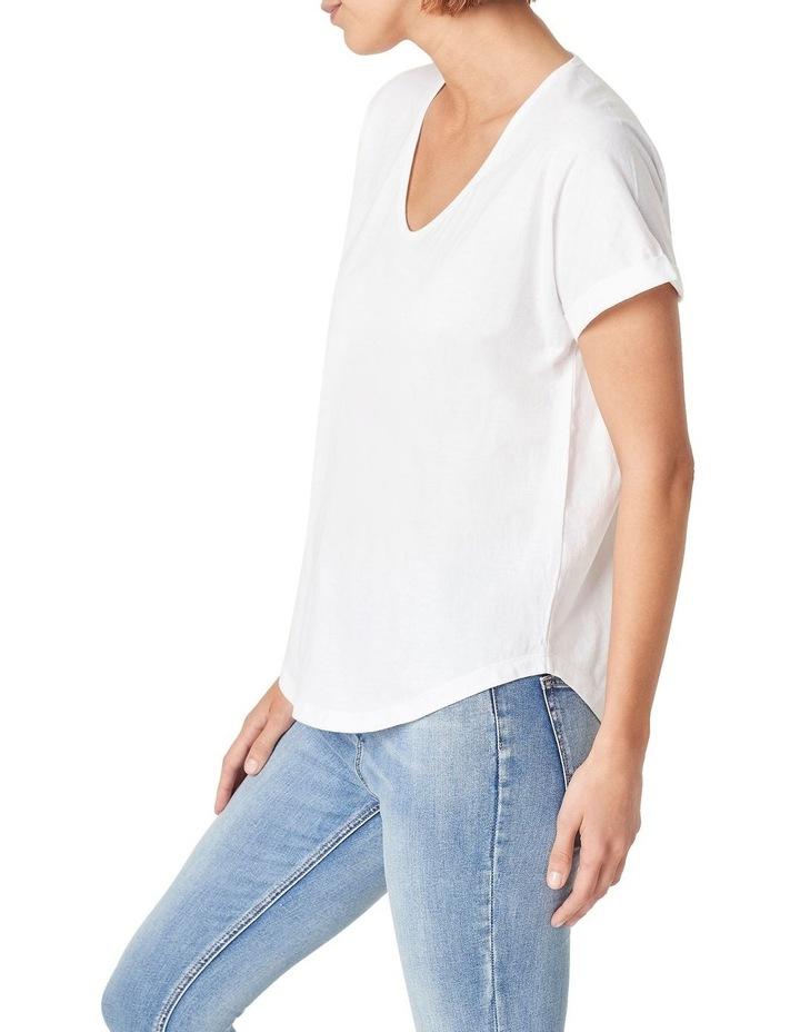 Organic Dipped Hem T-Shirt image 1