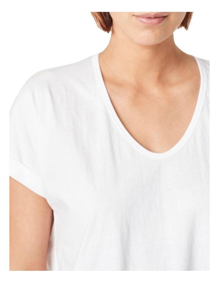Organic Dipped Hem T-Shirt image 4