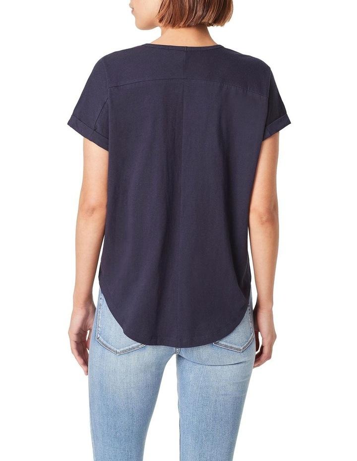 Organic Dipped Hem T-Shirt image 3