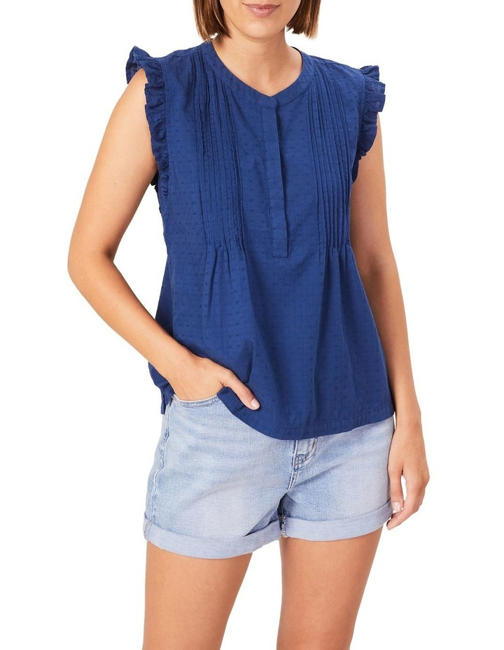Cotton Frill Sleeve Top image 1