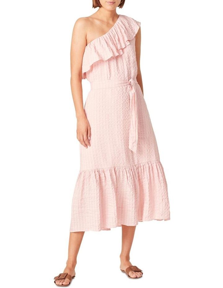 One Shoulder Textured Dress image 1
