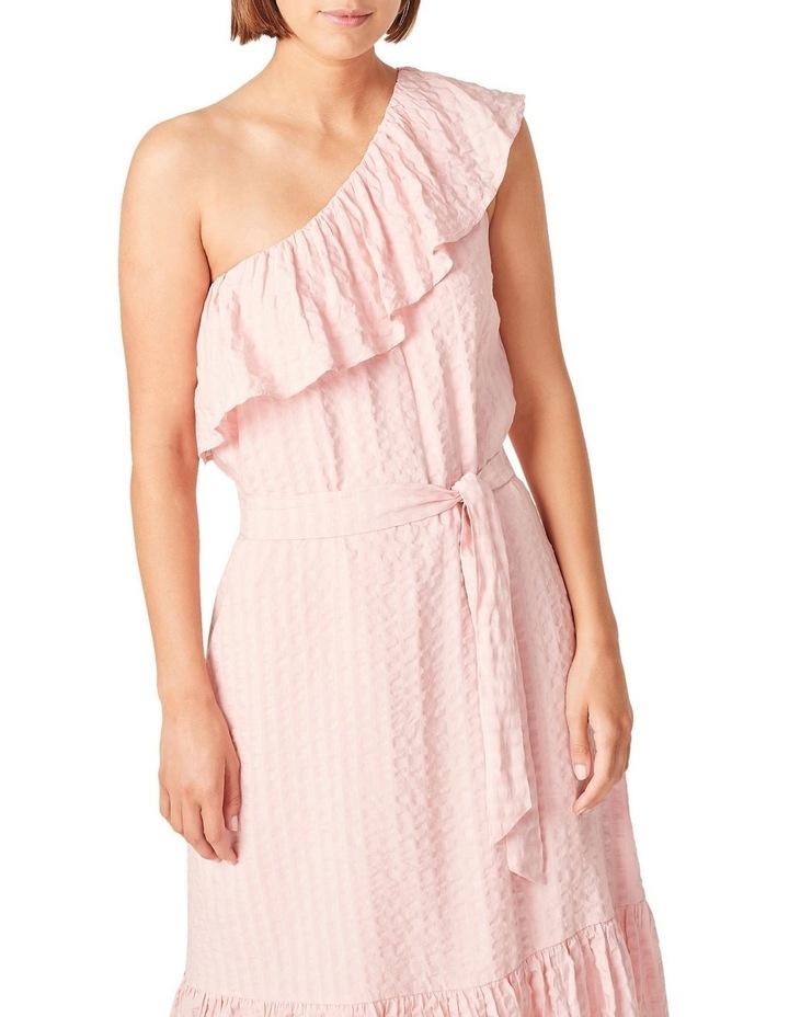 One Shoulder Textured Dress image 4