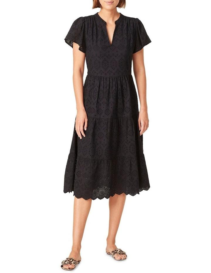 Broderie Midi Dress image 1