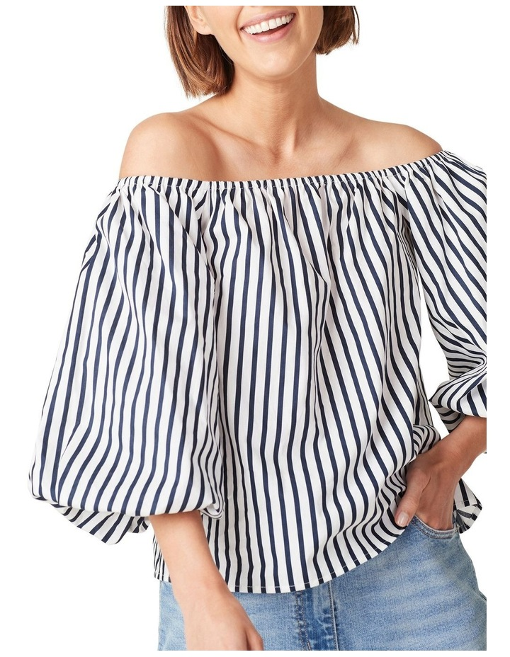 Off Shoulder Puff Sleeve Top image 4
