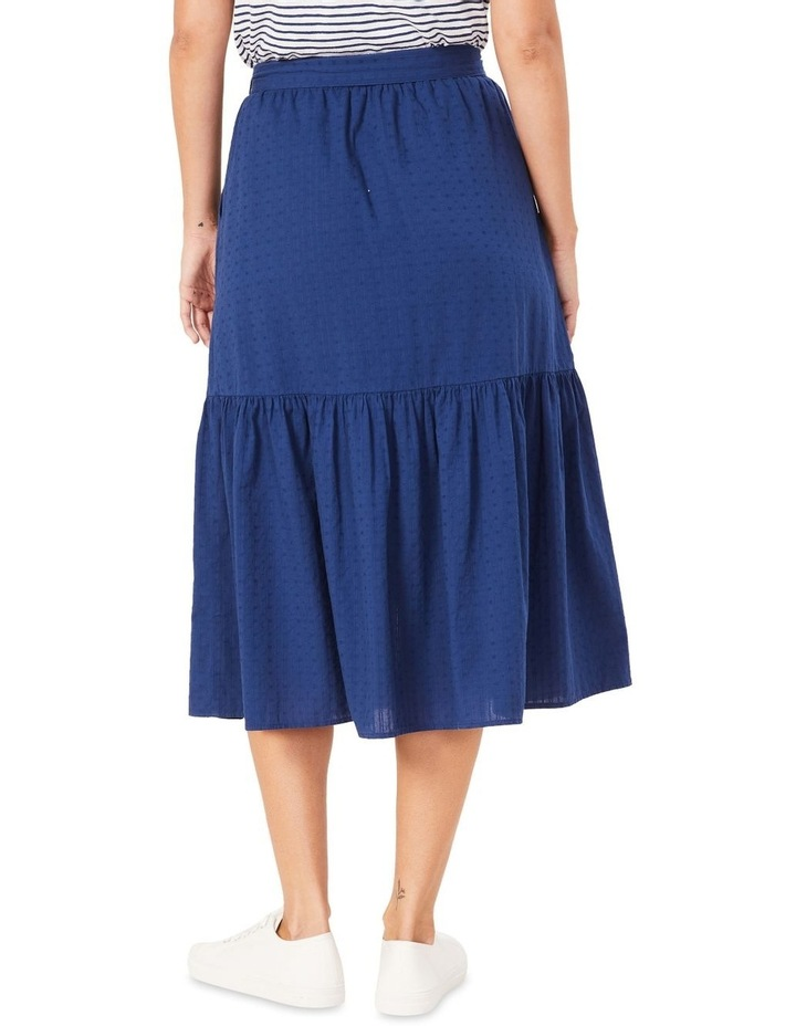 Tiered Button Through Midi Skirt image 3