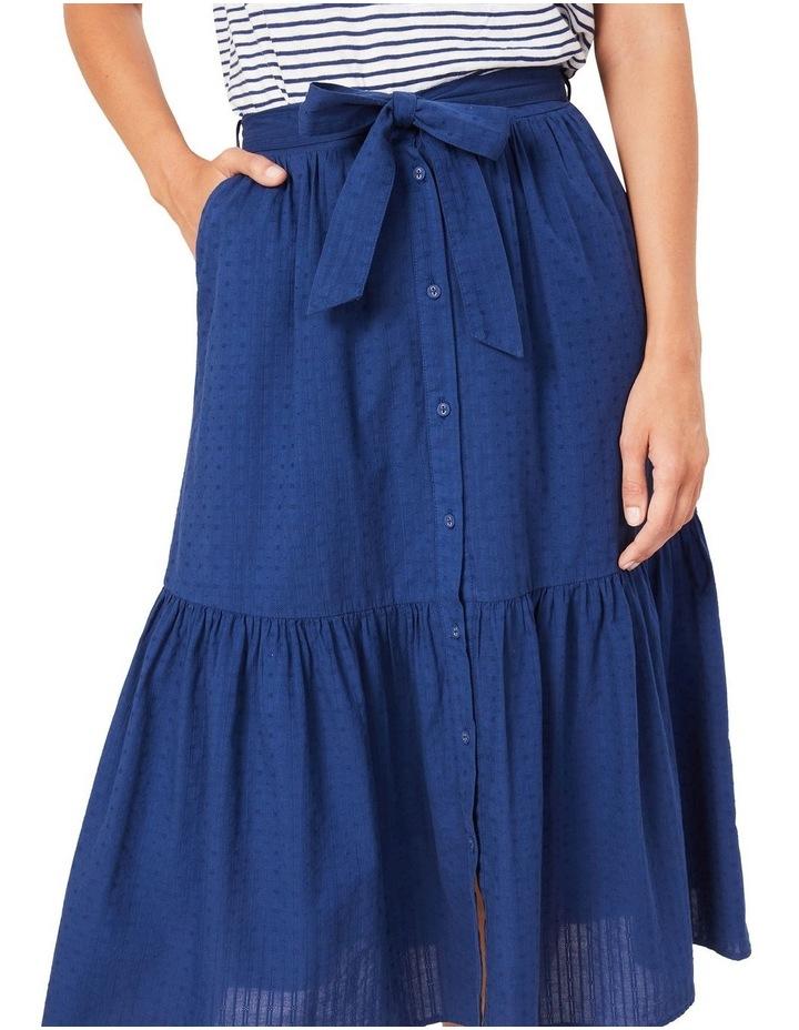 Tiered Button Through Midi Skirt image 4