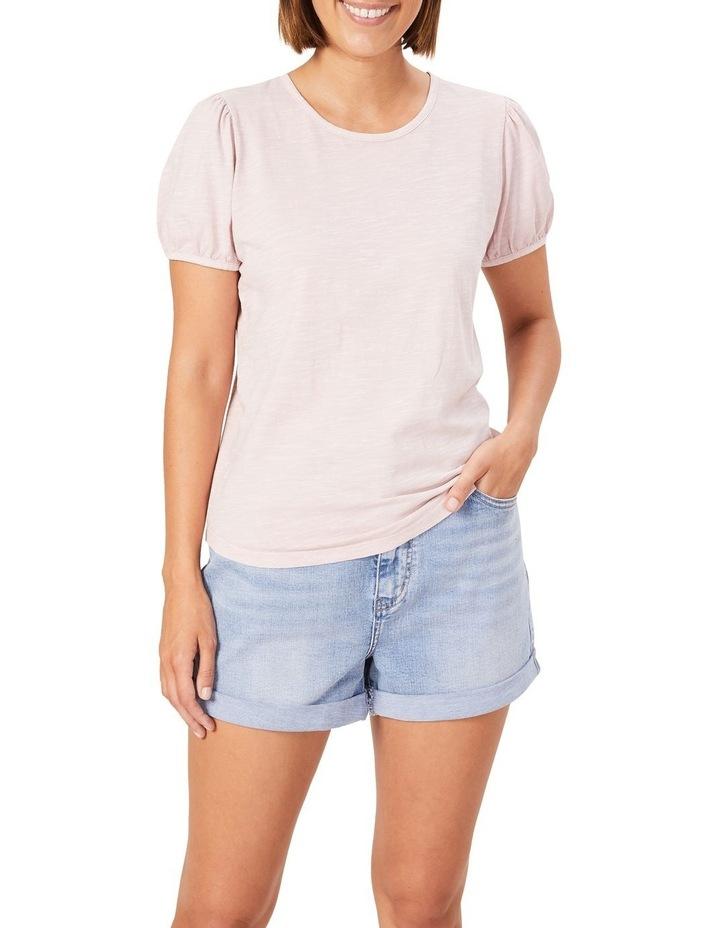 Washed Puff Sleeve T Shirt image 1