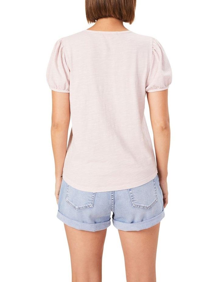 Washed Puff Sleeve T Shirt image 3