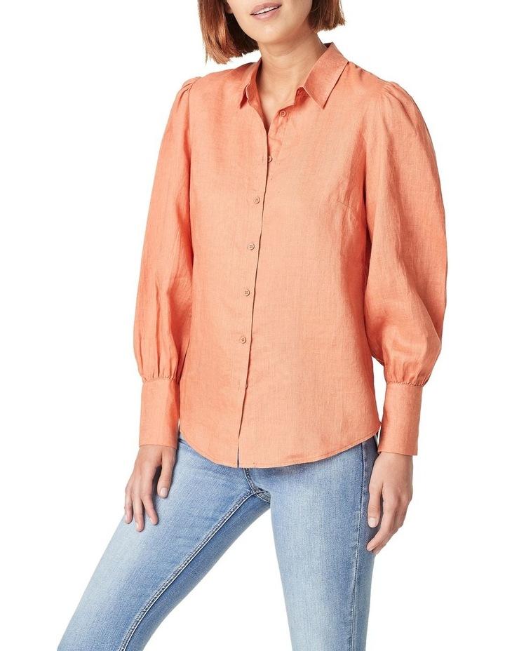 Puff Sleeve Linen Shirt image 1