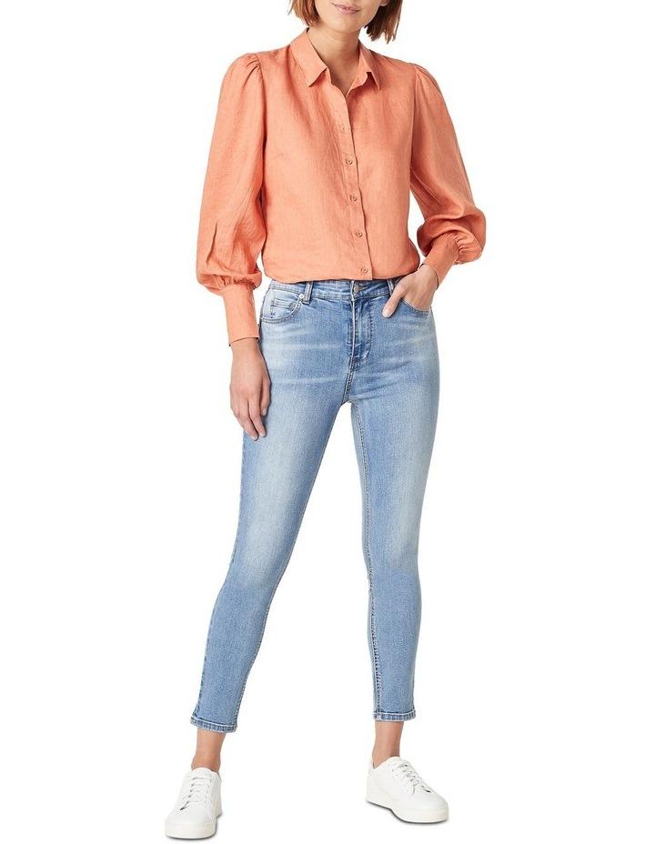 Puff Sleeve Linen Shirt image 2