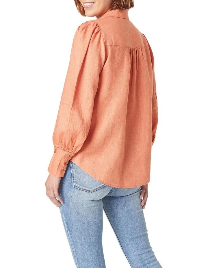 Puff Sleeve Linen Shirt image 3