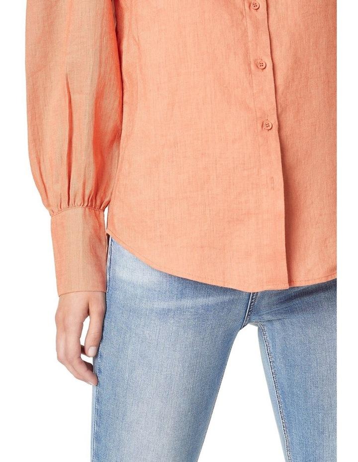 Puff Sleeve Linen Shirt image 4