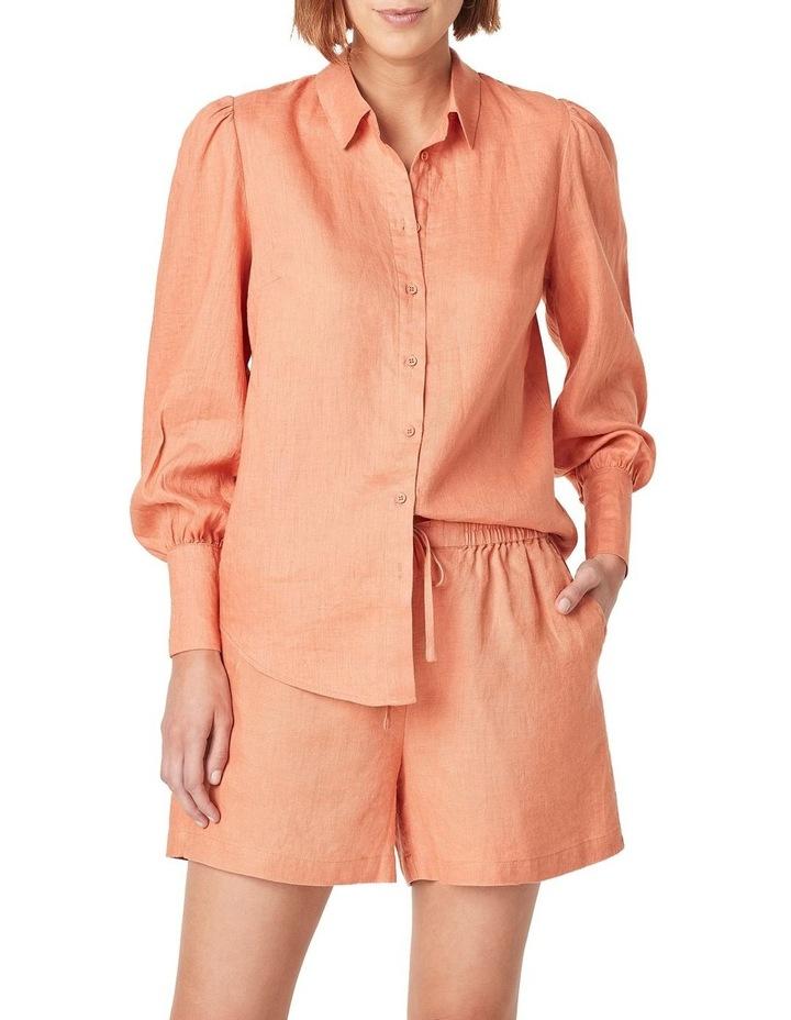 Puff Sleeve Linen Shirt image 5