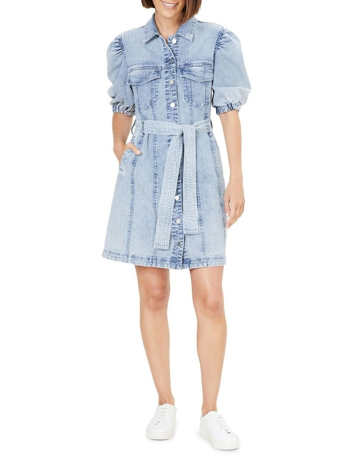 Denim Puff Sleeve Dress image 2