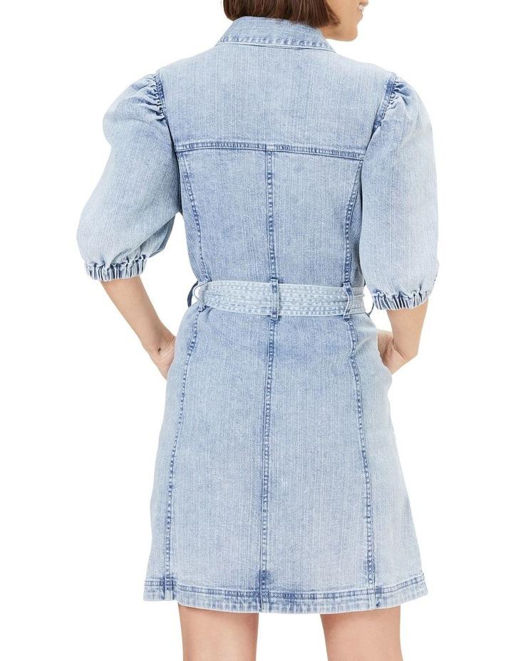 Denim Puff Sleeve Dress image 3