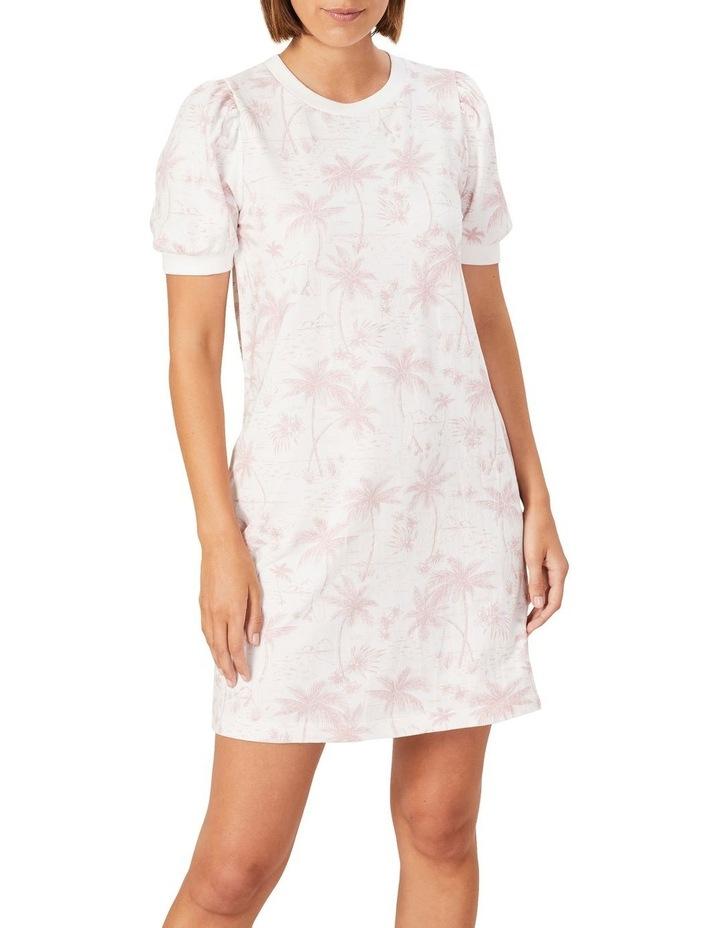 Tropical Print Sweat Dress image 1