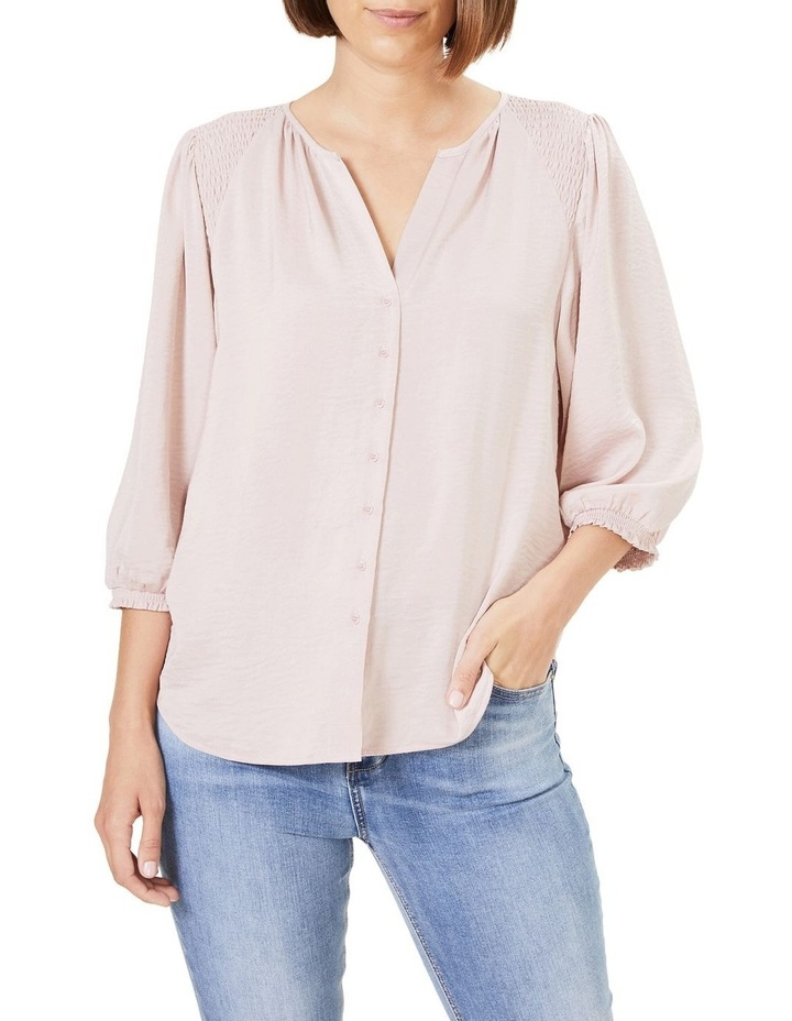 Shirred Button Through Shirt image 1