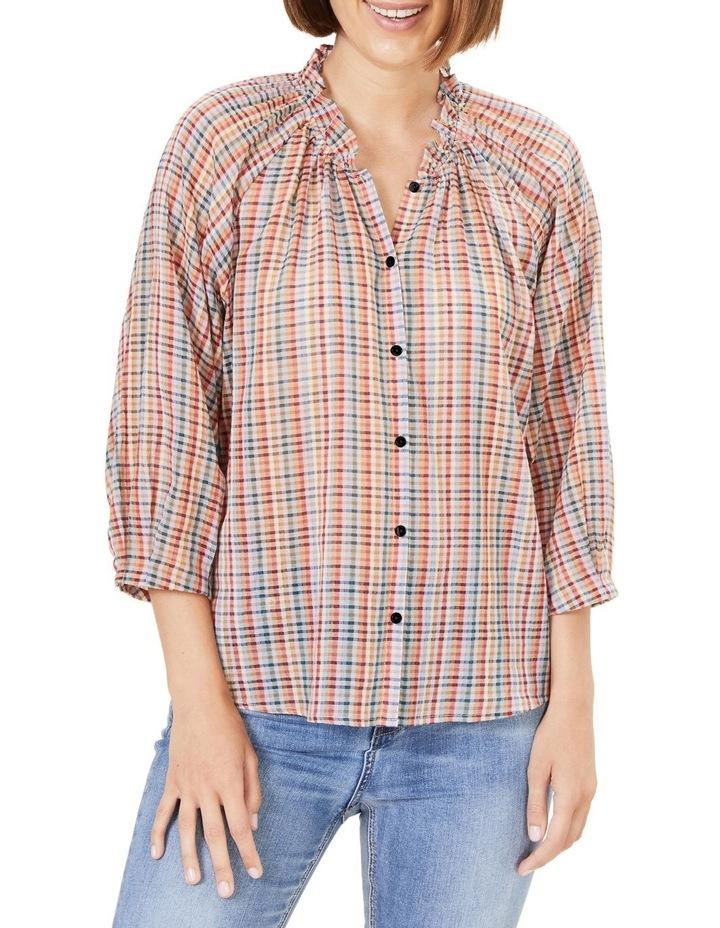 Rainbow Check Frill Shirt image 1