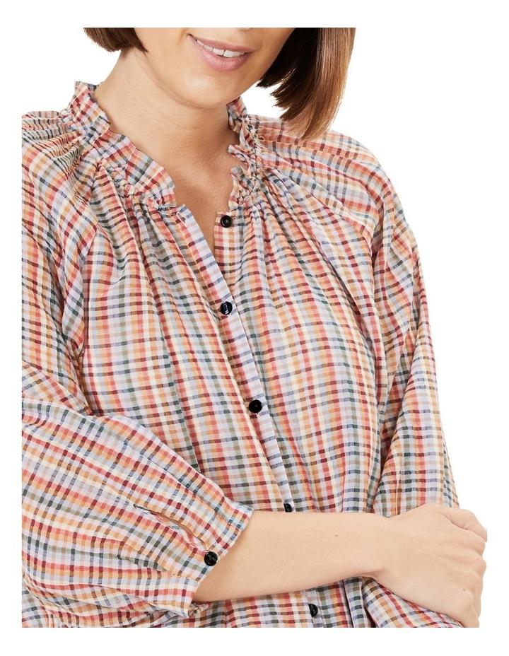Rainbow Check Frill Shirt image 4