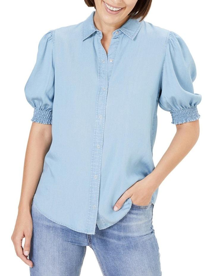 Denim Frill Sleeve Shirt image 1