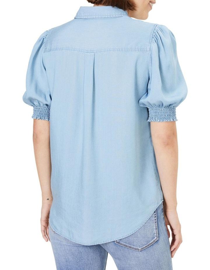 Denim Frill Sleeve Shirt image 3