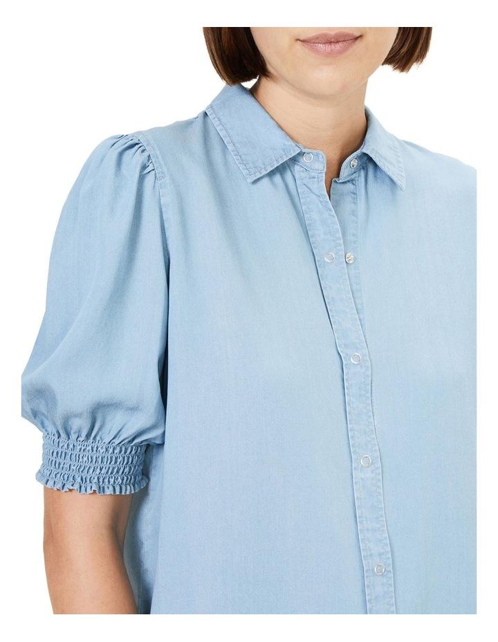 Denim Frill Sleeve Shirt image 4
