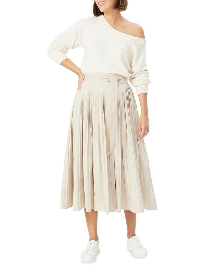 Soft Pleat Belted Midi Skirt image 2