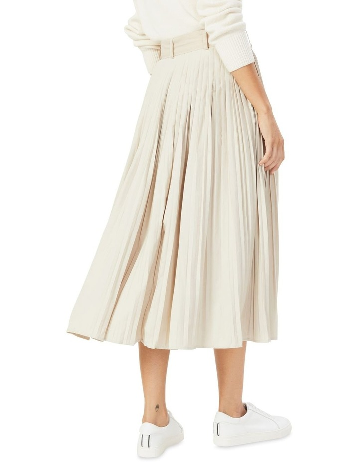Soft Pleat Belted Midi Skirt image 3