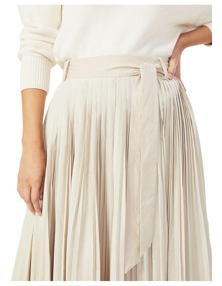 Soft Pleat Belted Midi Skirt image 4