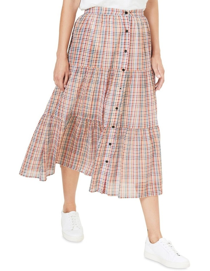 Rainbow Check Tiered Skirt image 1