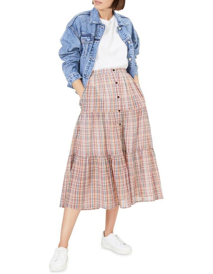 Rainbow Check Tiered Skirt image 2
