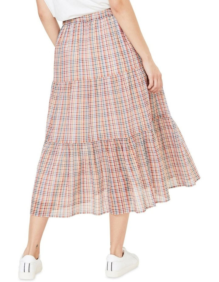 Rainbow Check Tiered Skirt image 3