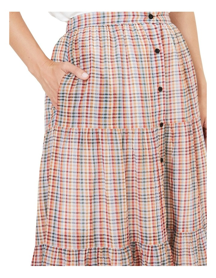 Rainbow Check Tiered Skirt image 4