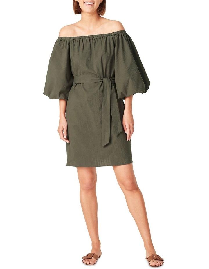 Off Shoulder Textured Dress image 1