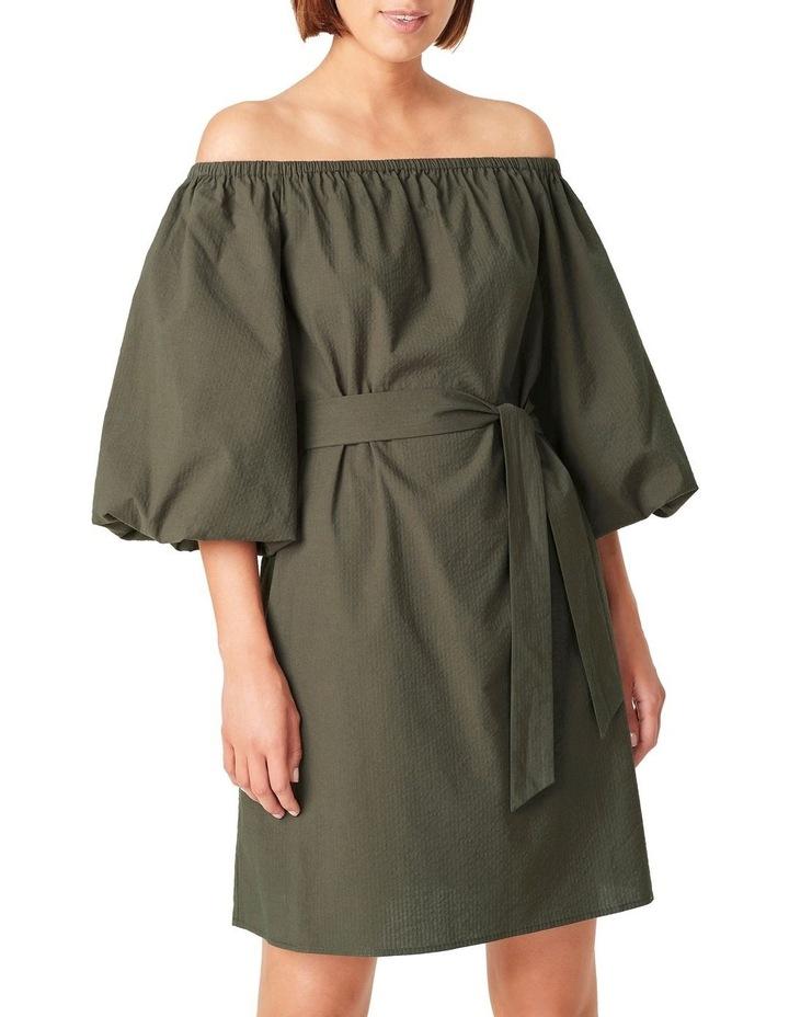 Off Shoulder Textured Dress image 4