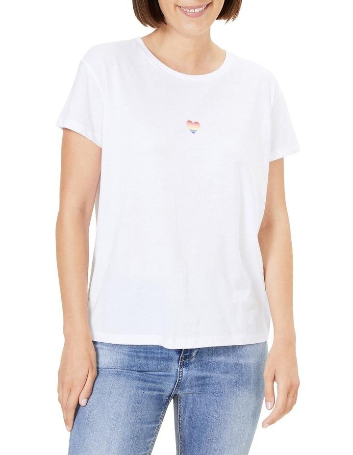 Rainbow Heart T Shirt image 1