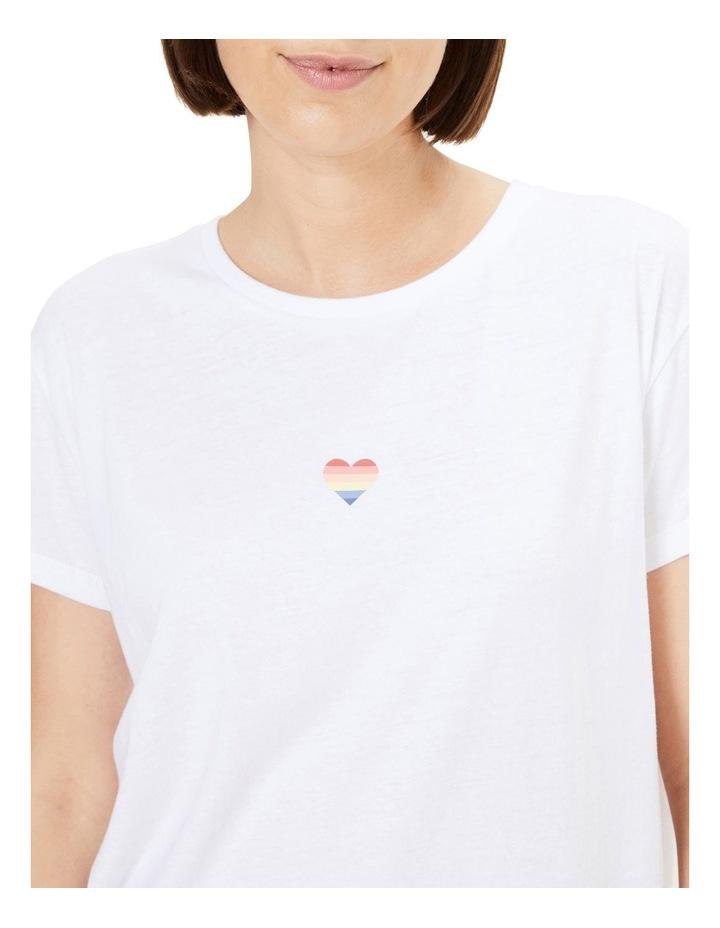 Rainbow Heart T Shirt image 4