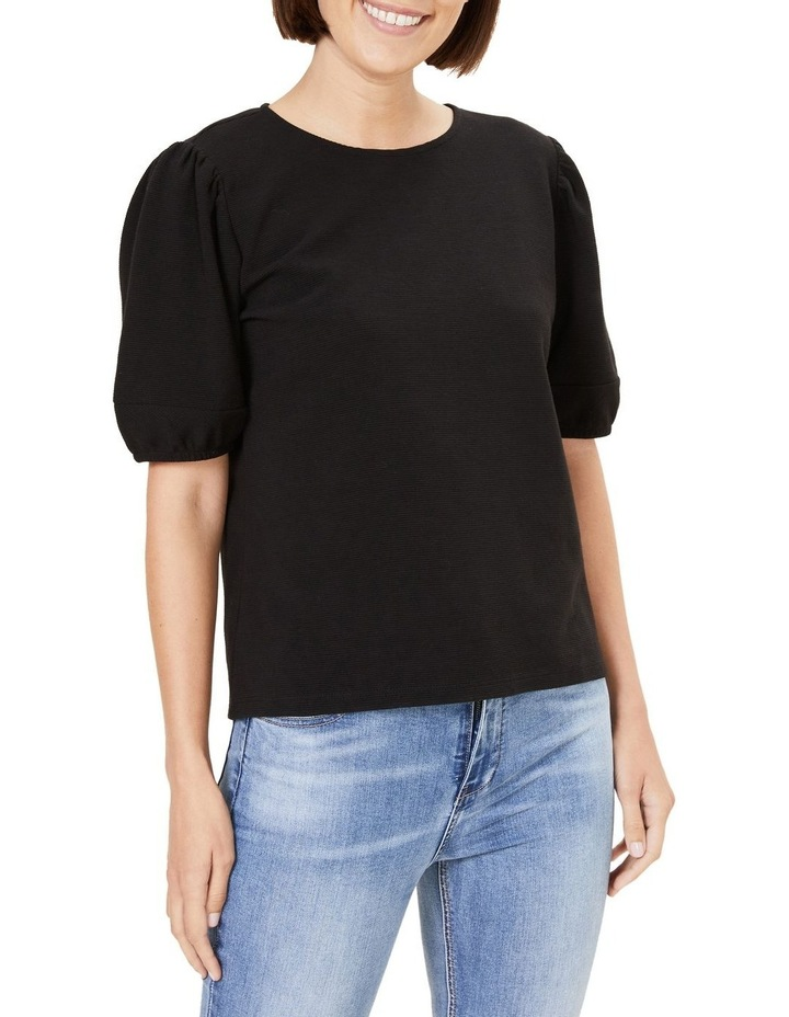 Textured Puff Sleeve T Shirt image 1