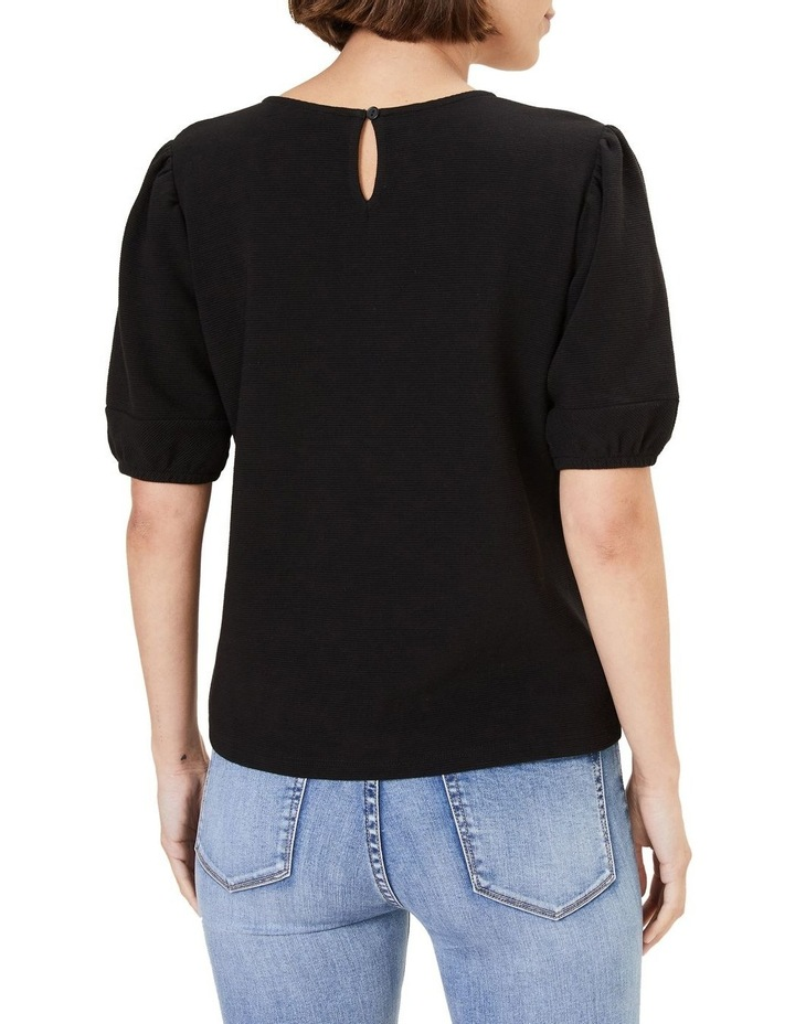 Textured Puff Sleeve T Shirt image 3