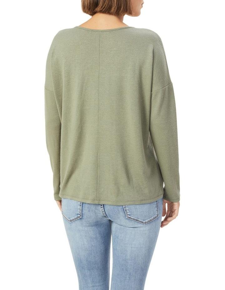 V Neck Long Sleeve T Shirt image 3