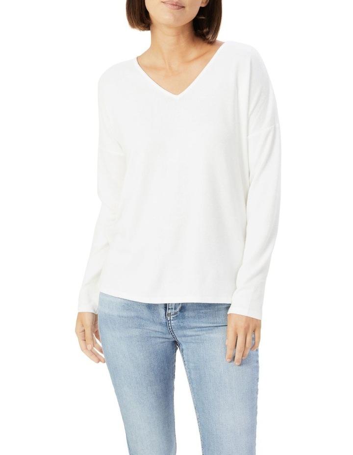 V Neck Long Sleeve T Shirt image 1