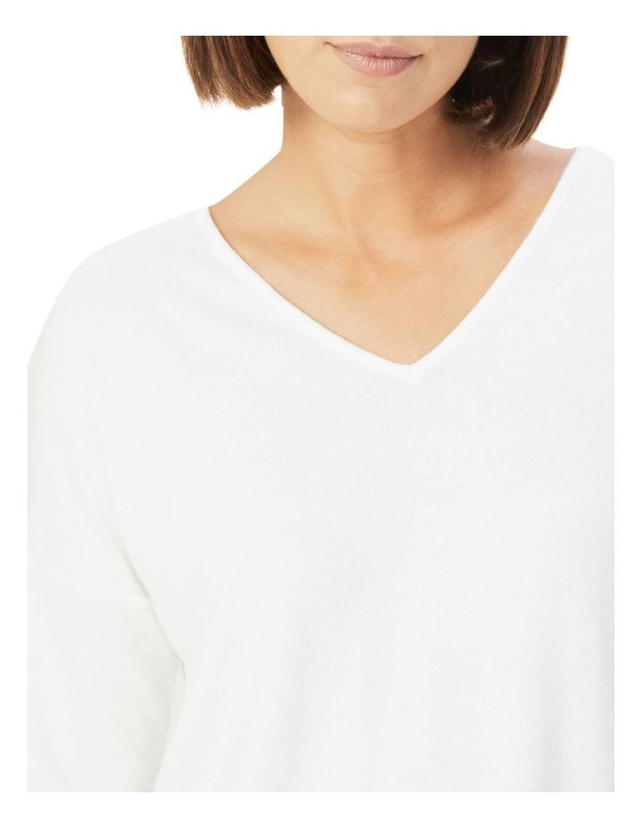 V Neck Long Sleeve T Shirt image 4