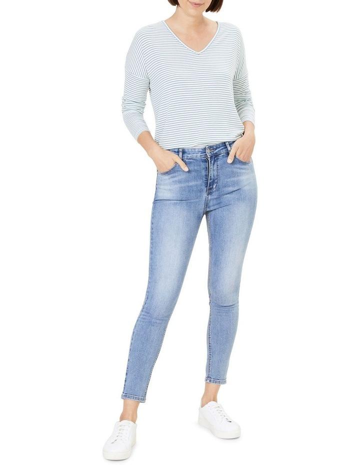 V Neck Long Sleeve T Shirt image 2
