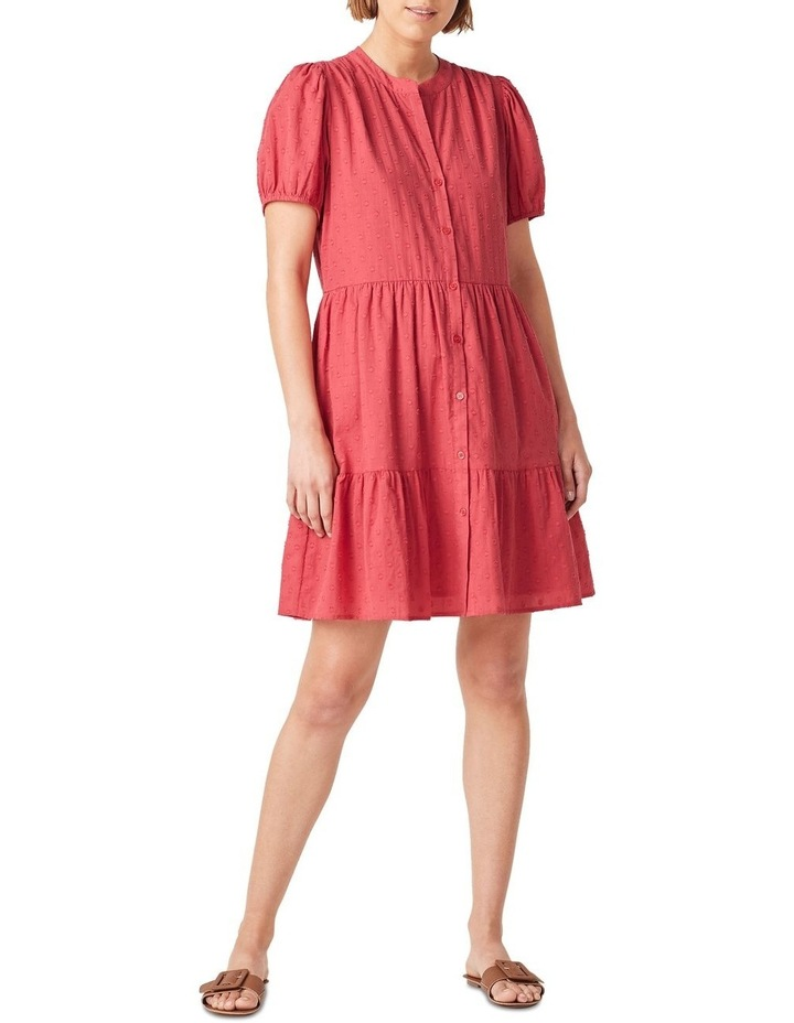 Cotton Dobby Puff Sleeve Dress image 1